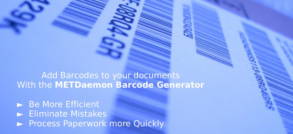 METDaemon Barcode Generator